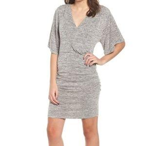 NWT Leith Grey Wrap Dress